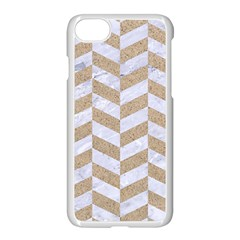 Chevron1 White Marble & Sand Apple Iphone 7 Seamless Case (white)