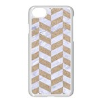 CHEVRON1 WHITE MARBLE & SAND Apple iPhone 7 Seamless Case (White) Front