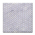 BRICK2 WHITE MARBLE & SAND (R) Tile Coasters Front