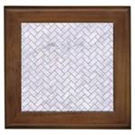 BRICK2 WHITE MARBLE & SAND (R) Framed Tiles Front