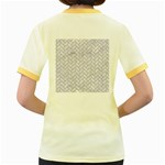 BRICK2 WHITE MARBLE & SAND (R) Women s Fitted Ringer T-Shirts Back