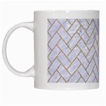 BRICK2 WHITE MARBLE & SAND (R) White Mugs Left