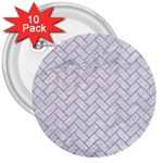 BRICK2 WHITE MARBLE & SAND (R) 3  Buttons (10 pack)  Front