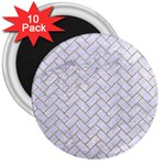BRICK2 WHITE MARBLE & SAND (R) 3  Magnets (10 pack)  Front