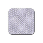 BRICK2 WHITE MARBLE & SAND (R) Rubber Square Coaster (4 pack)  Front