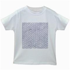 Brick2 White Marble & Sand (r) Kids White T Shirts
