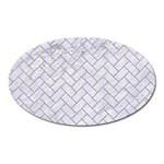 BRICK2 WHITE MARBLE & SAND (R) Oval Magnet Front