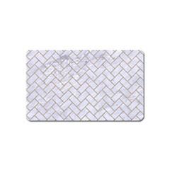 Brick2 White Marble & Sand (r) Magnet (name Card)