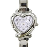 BRICK2 WHITE MARBLE & SAND (R) Heart Italian Charm Watch Front