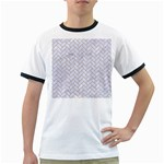 BRICK2 WHITE MARBLE & SAND (R) Ringer T-Shirts Front