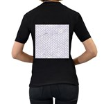 BRICK2 WHITE MARBLE & SAND (R) Women s T-Shirt (Black) (Two Sided) Back