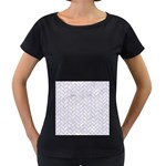 BRICK2 WHITE MARBLE & SAND (R) Women s Loose-Fit T-Shirt (Black) Front