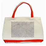 BRICK2 WHITE MARBLE & SAND (R) Classic Tote Bag (Red) Front