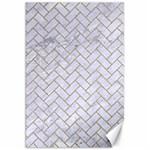 BRICK2 WHITE MARBLE & SAND (R) Canvas 20  x 30   30 x20 Canvas - 1