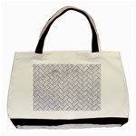 BRICK2 WHITE MARBLE & SAND (R) Basic Tote Bag (Two Sides) Front