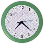 BRICK2 WHITE MARBLE & SAND (R) Color Wall Clocks Front