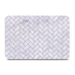 BRICK2 WHITE MARBLE & SAND (R) Plate Mats 18 x12 Plate Mat - 1