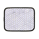 BRICK2 WHITE MARBLE & SAND (R) Netbook Case (Small)  Front