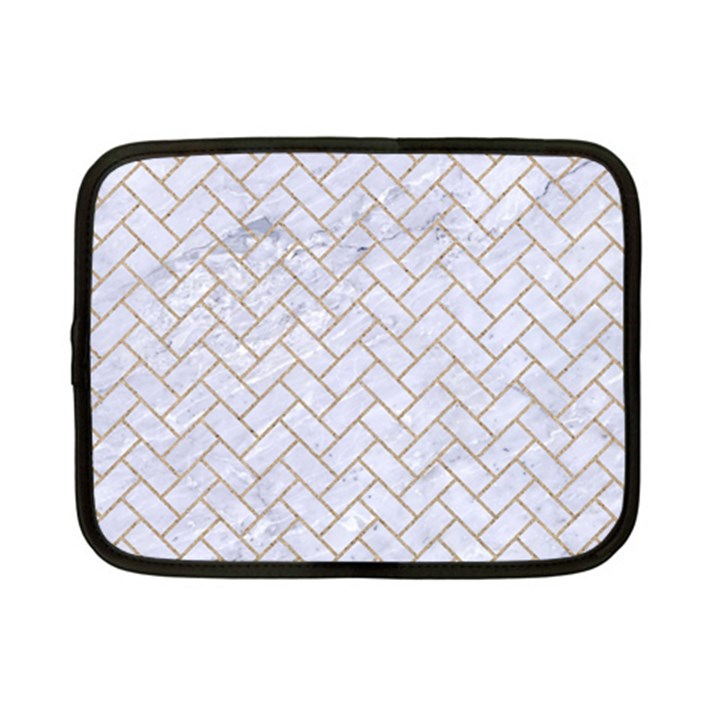 BRICK2 WHITE MARBLE & SAND (R) Netbook Case (Small)