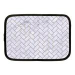 BRICK2 WHITE MARBLE & SAND (R) Netbook Case (Medium)  Front