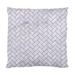BRICK2 WHITE MARBLE & SAND (R) Standard Cushion Case (One Side) Front