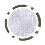 BRICK2 WHITE MARBLE & SAND (R) Poker Chip Card Guard (10 pack) Front