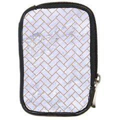 Brick2 White Marble & Sand (r) Compact Camera Cases