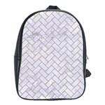 BRICK2 WHITE MARBLE & SAND (R) School Bag (Large) Front