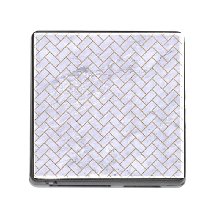 BRICK2 WHITE MARBLE & SAND (R) Memory Card Reader (Square)