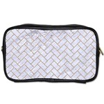 BRICK2 WHITE MARBLE & SAND (R) Toiletries Bags 2-Side Front