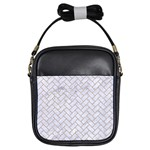 BRICK2 WHITE MARBLE & SAND (R) Girls Sling Bags Front