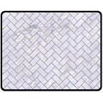 BRICK2 WHITE MARBLE & SAND (R) Fleece Blanket (Medium)  60 x50 Blanket Front