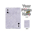 BRICK2 WHITE MARBLE & SAND (R) Playing Cards 54 (Mini)  Front - Spade4