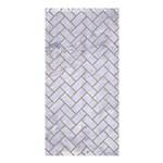 BRICK2 WHITE MARBLE & SAND (R) Shower Curtain 36  x 72  (Stall)  33.26 x66.24 Curtain