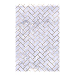 Brick2 White Marble & Sand (r) Shower Curtain 48  X 72  (small)