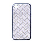 BRICK2 WHITE MARBLE & SAND (R) Apple iPhone 4 Case (Black) Front