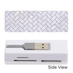 BRICK2 WHITE MARBLE & SAND (R) Memory Card Reader (Stick)  Front