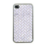 BRICK2 WHITE MARBLE & SAND (R) Apple iPhone 4 Case (Clear) Front