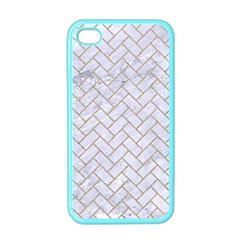 Brick2 White Marble & Sand (r) Apple Iphone 4 Case (color)