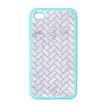 BRICK2 WHITE MARBLE & SAND (R) Apple iPhone 4 Case (Color) Front