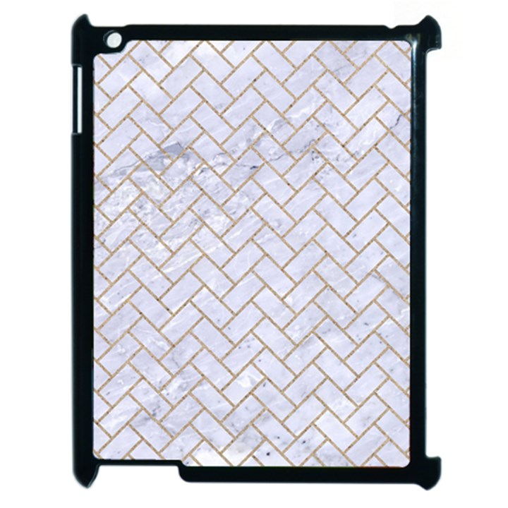 BRICK2 WHITE MARBLE & SAND (R) Apple iPad 2 Case (Black)