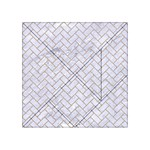 BRICK2 WHITE MARBLE & SAND (R) Acrylic Tangram Puzzle (4  x 4 ) Front
