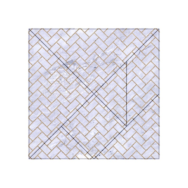 BRICK2 WHITE MARBLE & SAND (R) Acrylic Tangram Puzzle (4  x 4 )