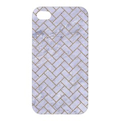 Brick2 White Marble & Sand (r) Apple Iphone 4/4s Premium Hardshell Case