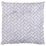 BRICK2 WHITE MARBLE & SAND (R) Large Cushion Case (One Side) Front