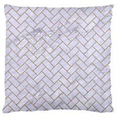 Brick2 White Marble & Sand (r) Large Cushion Case (two Sides)