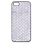 BRICK2 WHITE MARBLE & SAND (R) Apple iPhone 5 Seamless Case (Black) Front