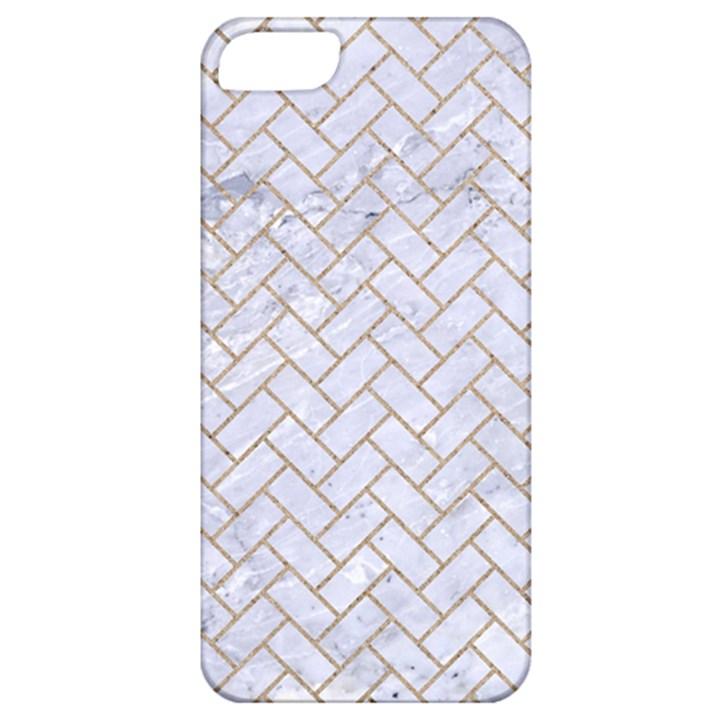 BRICK2 WHITE MARBLE & SAND (R) Apple iPhone 5 Classic Hardshell Case