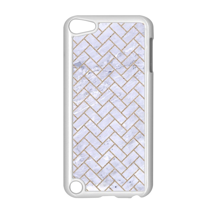 BRICK2 WHITE MARBLE & SAND (R) Apple iPod Touch 5 Case (White)