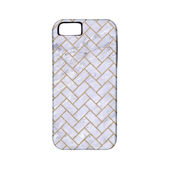 BRICK2 WHITE MARBLE & SAND (R) Apple iPhone 5 Classic Hardshell Case (PC+Silicone)